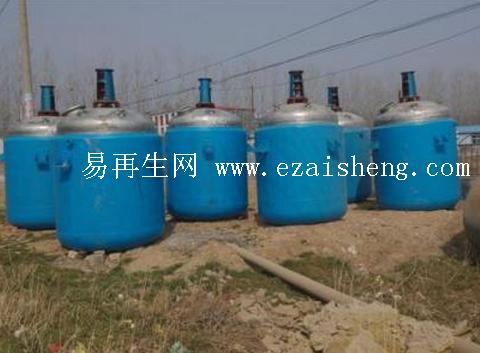 高价回收二手1000升搪瓷反应釜二手化工设备