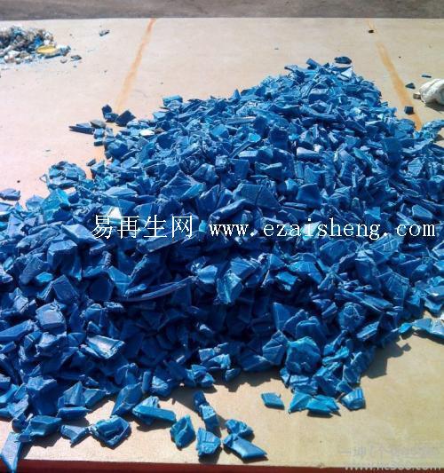 供应废塑料HDPE蓝色破碎料