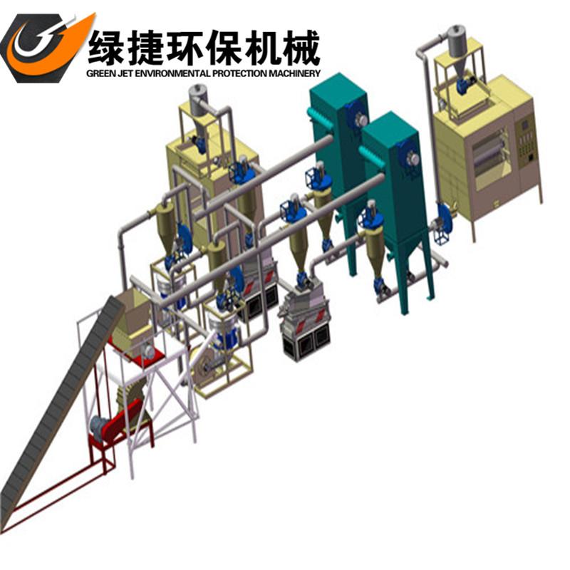 供应金属非金属分离机 绿捷电路板拆解处理设备 环保锂电池铜墨.